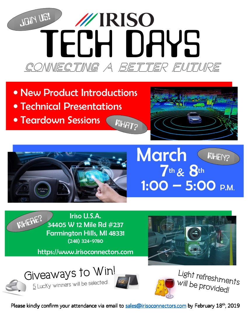 IRISO 2019 Tech Days Mar 7th and 8th